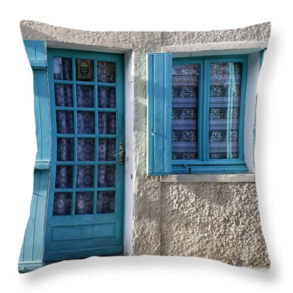 Cottage In France Throw Pillow by Nomad Art And  Design