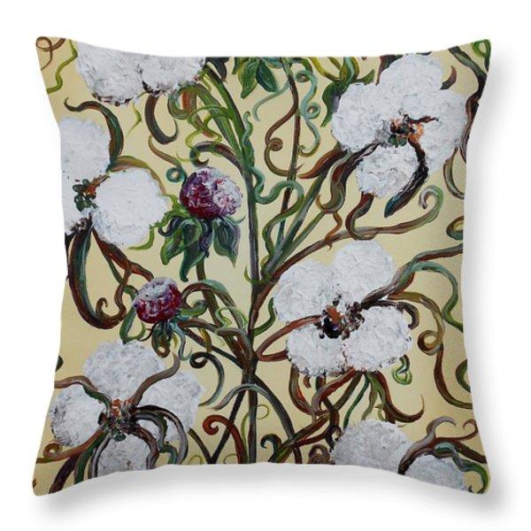 Cotton #1 - King Cotton Throw Pillow by Eloise Schneider