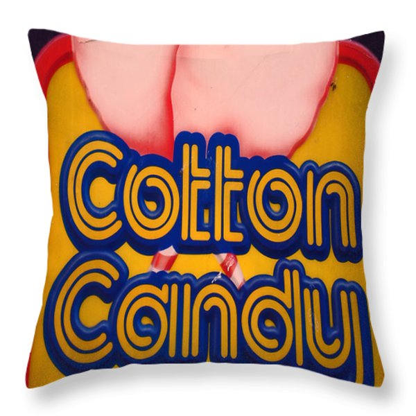 COTTON CANDY Throw Pillow by Skip Willits