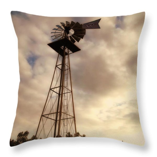 Cotton Skies Throw Pillow by Glenn McCarthy Art and Photography