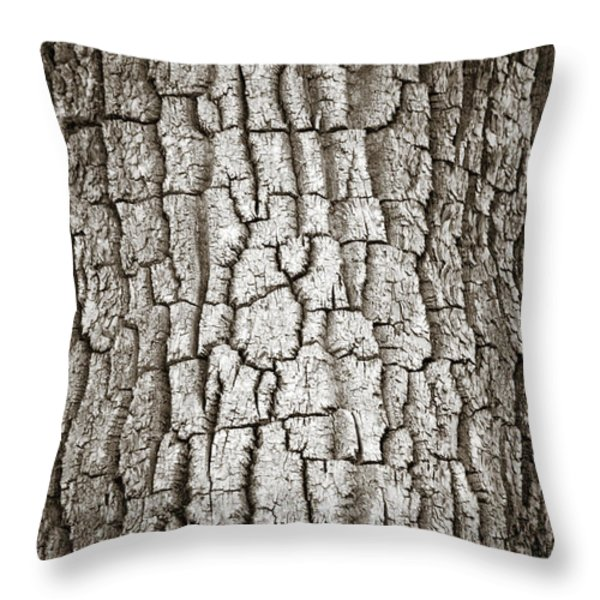 Cottonwood Bark 1 Throw Pillow by Marilyn Hunt