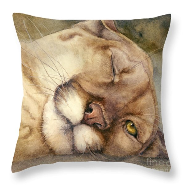 Cougar    I See You Throw Pillow by Bonnie Rinier