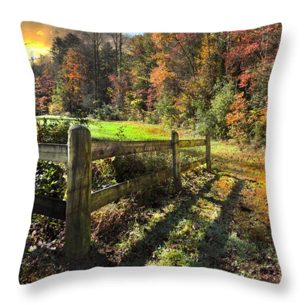 Country Dawn Throw Pillow by Debra and Dave Vanderlaan