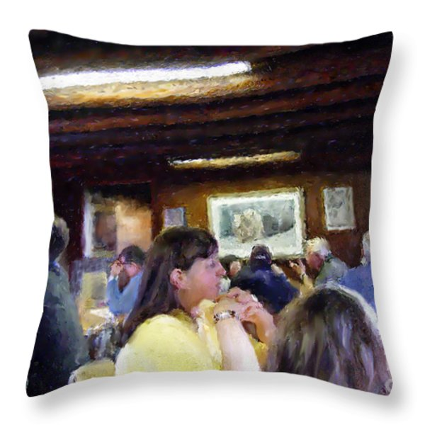 Country Diner Throw Pillow by Ursula Freer