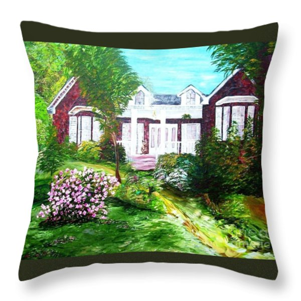 Country Estate Throw Pillow by Eloise Schneider