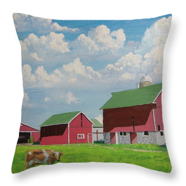 Country Home Throw Pillow by Norm Starks