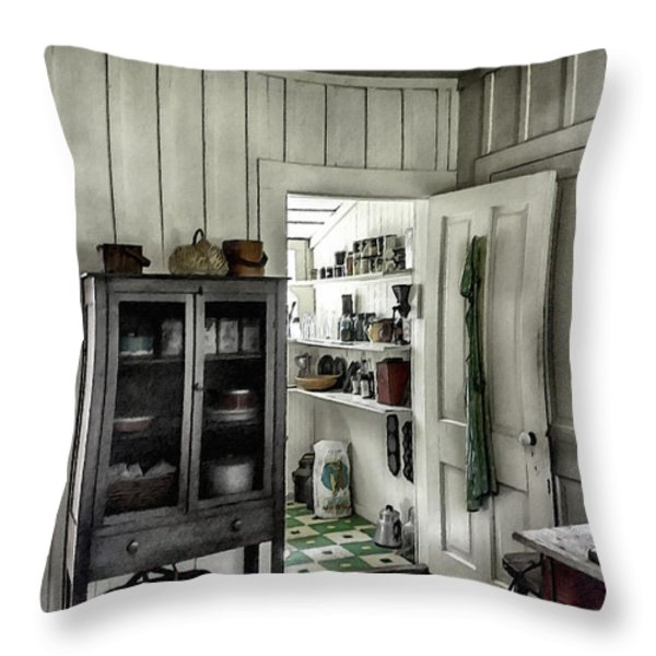 Country Pantry Throw Pillow by Lynn Palmer