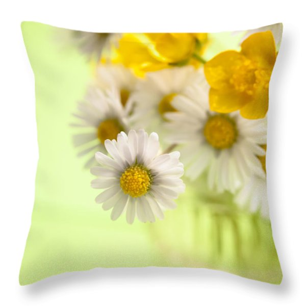 Country Posy Throw Pillow by Jan Bickerton