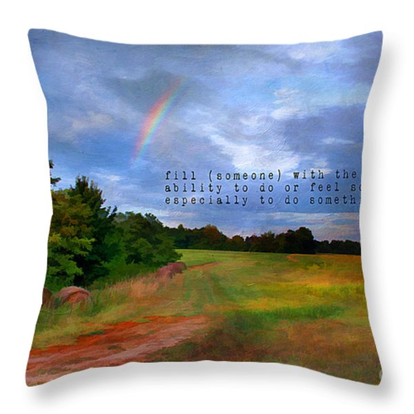 Country Rainbow Throw Pillow by Darren Fisher