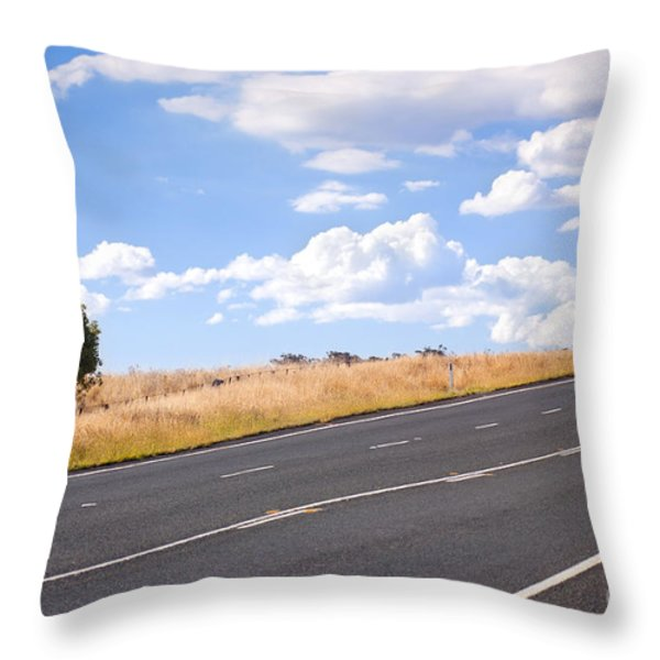 Country Road Throw Pillow by Tim Hester