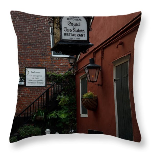 Court Of Two Sisters Throw Pillow by Susie Hoffpauir