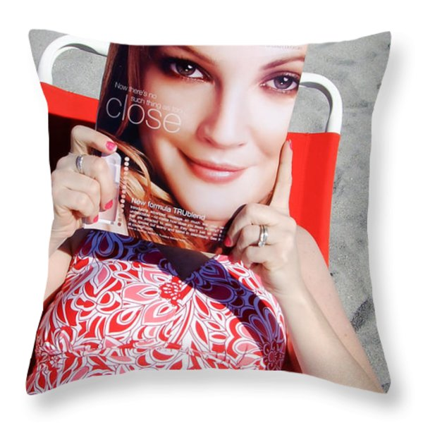 Cover Girl Throw Pillow by Edward Fielding