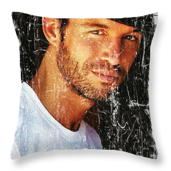 Cowboy Fashion Throw Pillow by M and L Creations