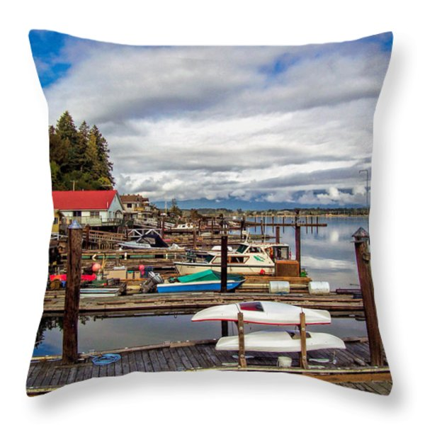Cowichan Bay Vancouver Island Throw Pillow by Lynn Bolt