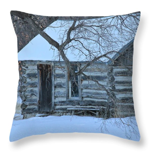 Cozy Hideaway Throw Pillow by Penny Meyers