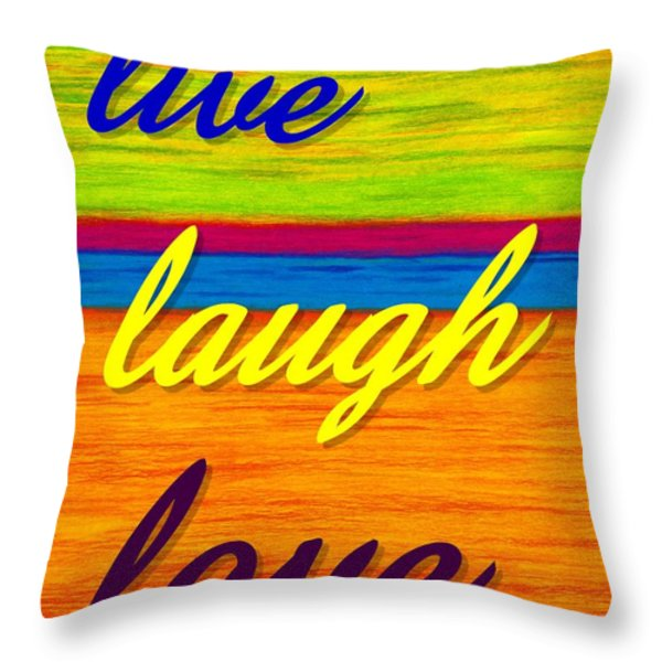 Cp001 Live Laugh Love Throw Pillow by David K Small