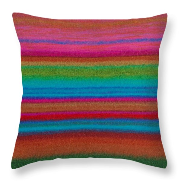 Cp014 Stripes Throw Pillow by David K Small