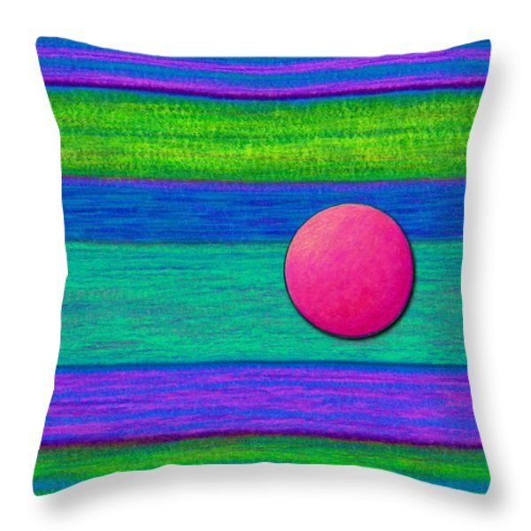 Cp022 With Circle Throw Pillow by David K Small
