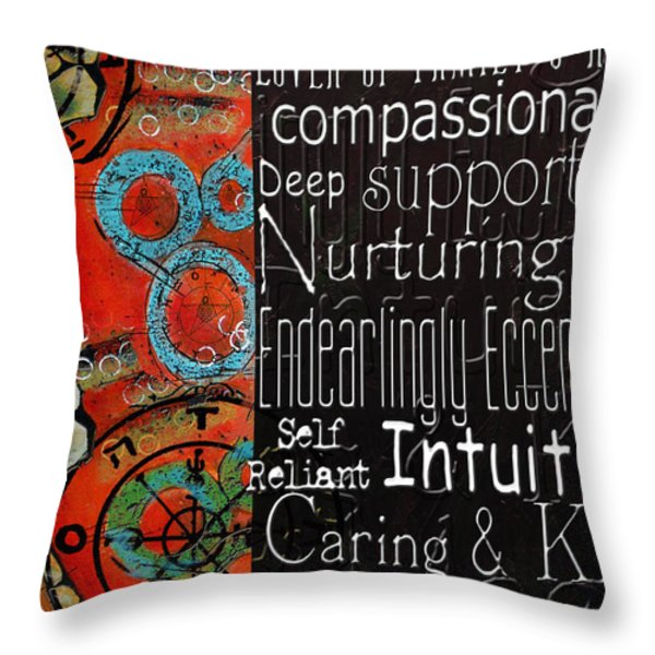 Crab Of The Star Cancer 2 Throw Pillow by Corporate Art Task Force