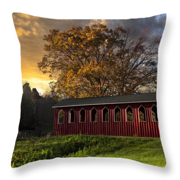 Crack Of Dawn Throw Pillow by Debra and Dave Vanderlaan