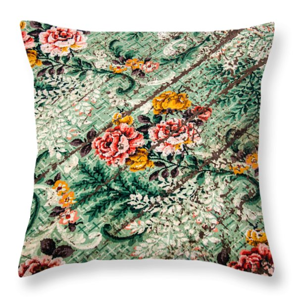 Cracked Linoleum Throw Pillow by Sue Smith