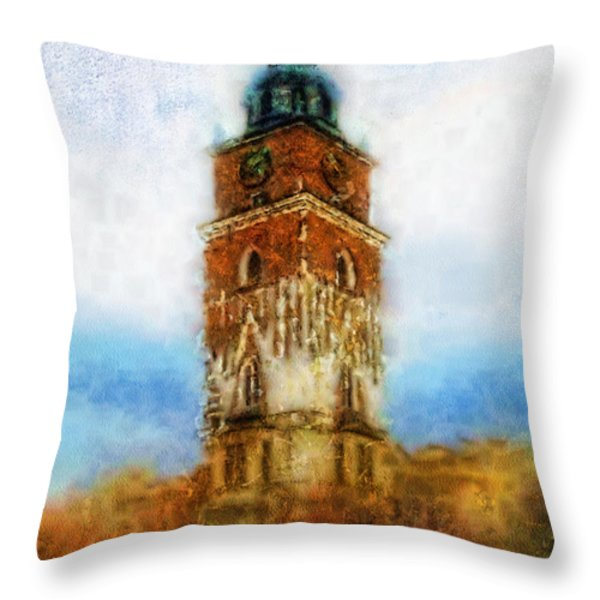 Cracov City Hall Throw Pillow by Mo T