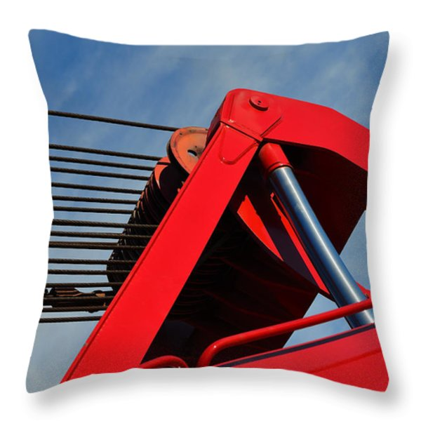 Crane - Photography By William Patrick and Sharon Cummings Throw Pillow by Sharon Cummings