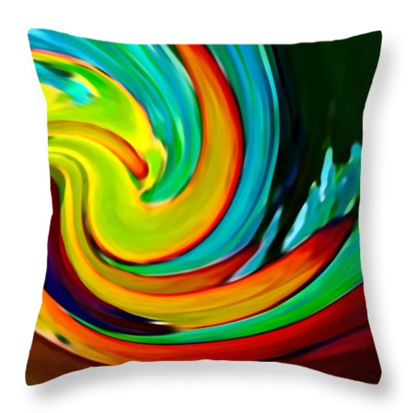 Crashing Wave Throw Pillow by Amy Vangsgard