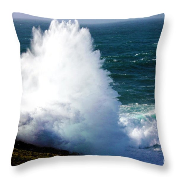 Crashing Wave Throw Pillow by Terri  Waters