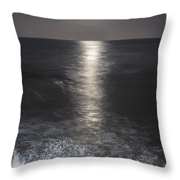 Crashing with the moon Throw Pillow by Bryan Toro