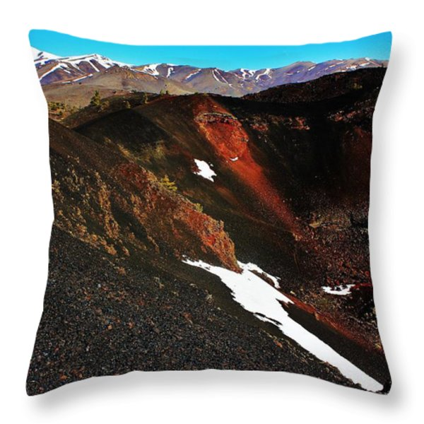 Craters of the Moon Throw Pillow by Benjamin Yeager