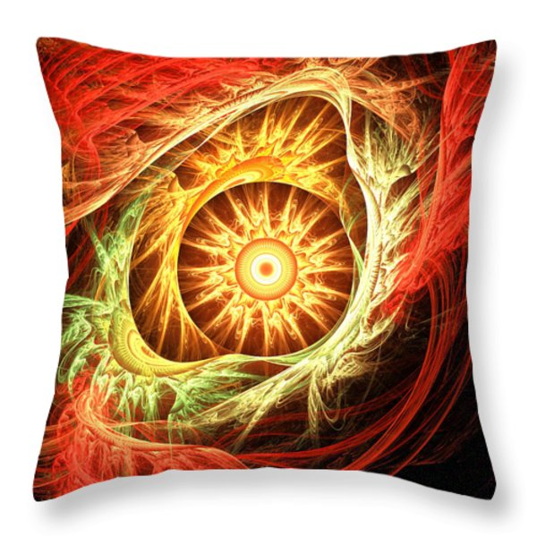 Creation Of Sun Throw Pillow by Lourry Legarde