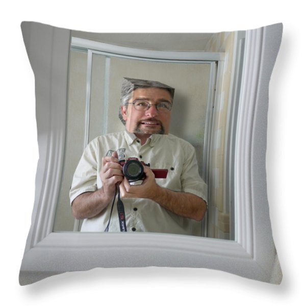 CREATIVE BLOCK SYNDROME Throw Pillow by Mike McGlothlen