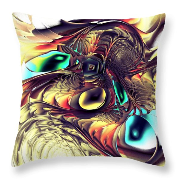 Creature Throw Pillow by Anastasiya Malakhova
