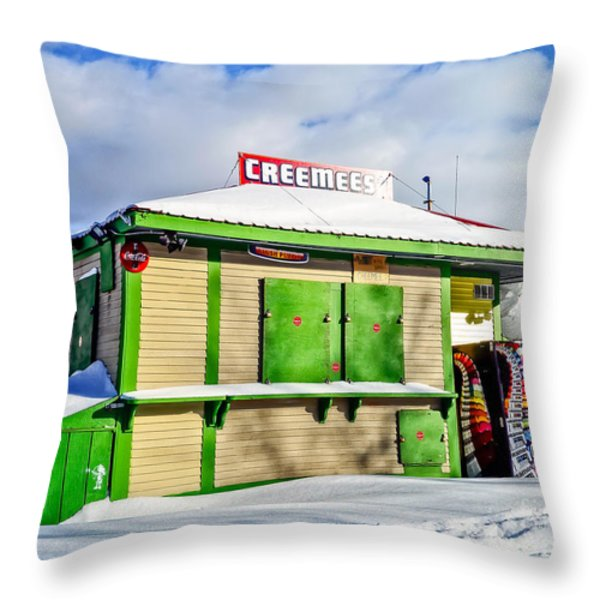 Creemees Throw Pillow by Edward Fielding