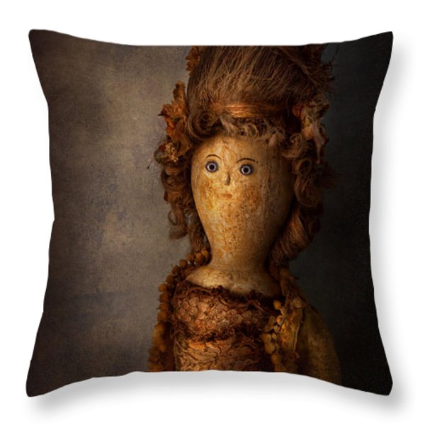 Creepy - Doll - Matilda Throw Pillow by Mike Savad