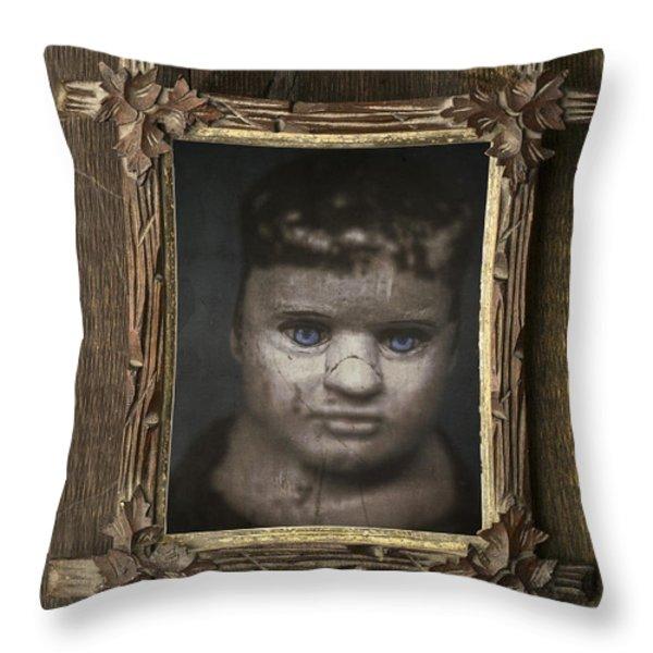 Creepy Relative Throw Pillow by Edward Fielding