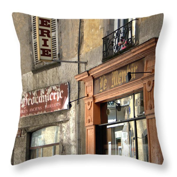 Creperie In Clermont Ferrand France Throw Pillow by Nomad Art And  Design