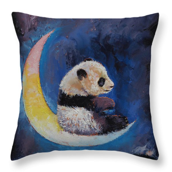 Crescent Moon Throw Pillow by Michael Creese