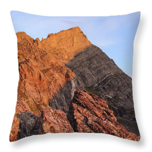 Crestone Needle Sunrise Throw Pillow by Aaron Spong