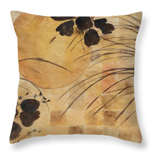 Cricket And The Moon Throw Pillow by Patricia Novack