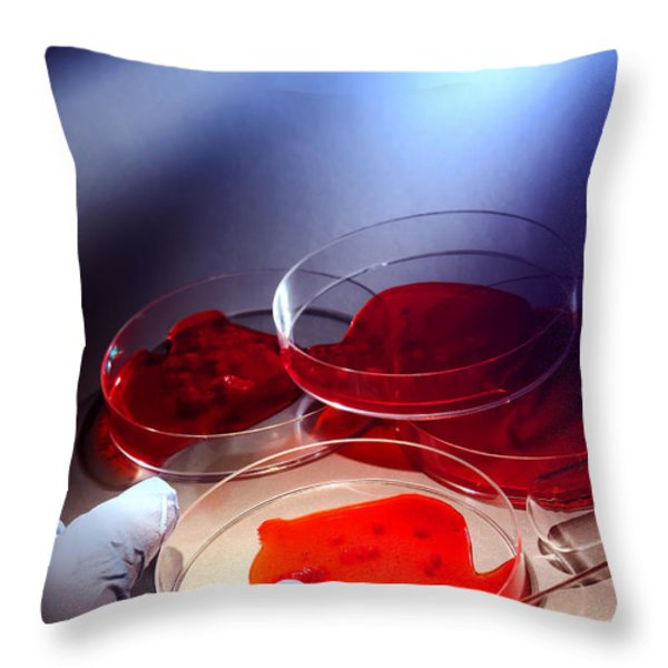 Crime Lab Throw Pillow by Olivier Le Queinec