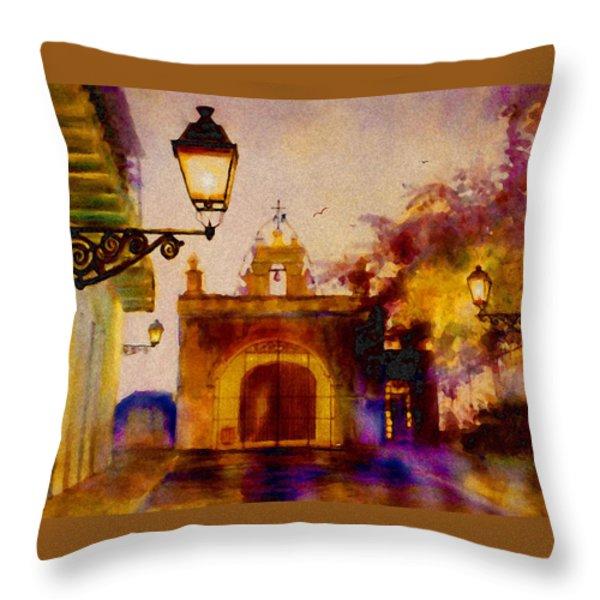 Cristo Chapel San Juan Throw Pillow by Estela Robles