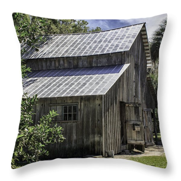 Cross Creek Barn Throw Pillow by Lynn Palmer