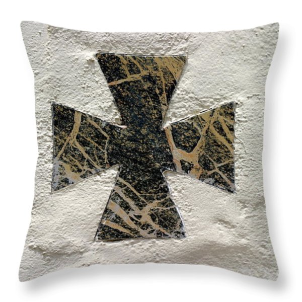 Cross Throw Pillow by Henrik Lehnerer