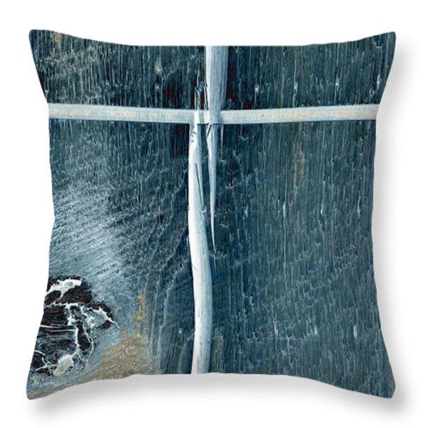 cross2bear Throw Pillow by Tom Druin