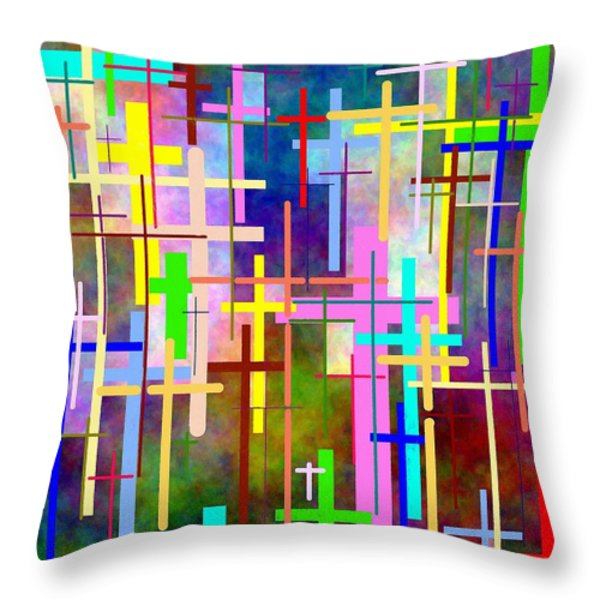 Crossing Over Throw Pillow by Glenn McCarthy Art and Photography