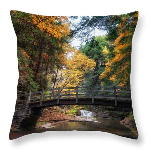 Crossing Over Throw Pillow by Mark Papke