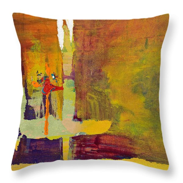 Crossing Over Throw Pillow by Pat Saunders-White
