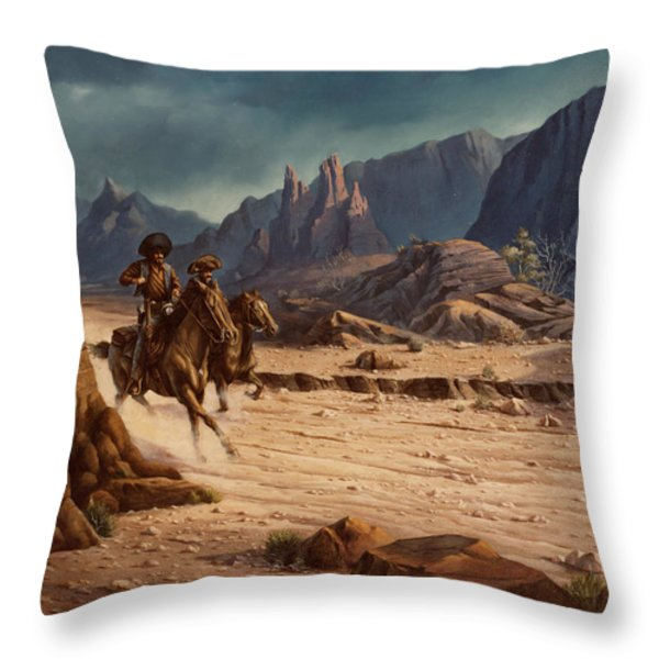 Crossing The Border Throw Pillow by Michael Humphries